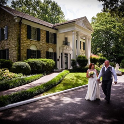 Carol and Gary Bates from Lestershire, England were married at Graceland's Chapel in the Woods on August 23, 2016.