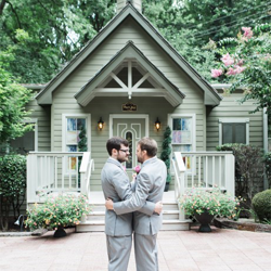 Justin and Nathan Peele-Combs from Raleigh, North Carolina were married at Graceland's Chapel in the Woods on August 13, 2016.
