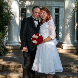 Sharina and Michael Russell from Seminary, Mississippi were married at Graceland's Chapel in the Woods on September 3, 2016.