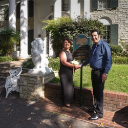 Sam and Maria Lipari of Australia renewed their vows at Graceland's Chapel in the Woods on October 31, 2016, in celebration of their 25th wedding anniversary.