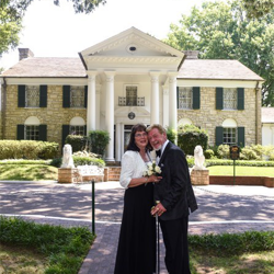 Pam Hill and Gale Tolbert from Independence, Missouri, were married at the Chapel in the Woods on June 25, 2016.