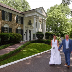 Mary and Paul Wade of the United Kingdom were married at Graceland's Chapel in the Woods on May 23, 2017.