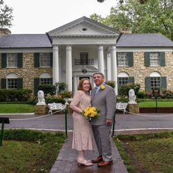 Robert and Francine Wiener of New Jersey renewed their vows at Graceland's Chapel in the Woods on August 11, 2017.