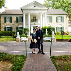 Birgit Jeitler and Bernhard Eggner of Austria were married at Graceland
