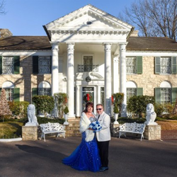 Stewart and Jill Mederos of Cocoa, Florida were married at Graceland's Chapel in the Woods on January 3, 2018. First wedding of the new year!