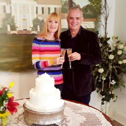 Vaughan and Catherine Brown of New Zealand were married at Graceland's Chapel in the Woods on January 15, 2018.