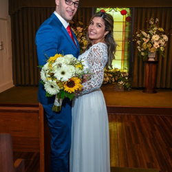 Marcia Lucia Medeiros and Federico Santiago Alfonso from Argentina were married at Graceland's Chapel in the Woods on March 24, 2018.