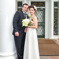 Julie and David Milasincic of Canada were married at Graceland's Chapel in the Woods on May 16, 2018.