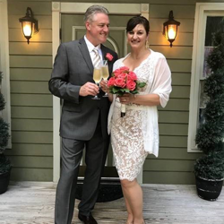 Robert and Kristie Quillen from California were married at Graceland's Chapel in the Woods on June 12, 2018.