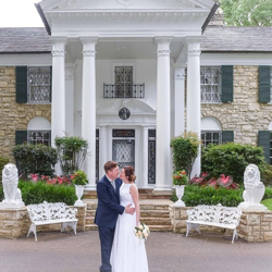 Stuart and Barbara Rawlings from, United Kingdom celebrated their 50th wedding anniversary at Graceland's Chapel in the Woods on May 24, 2018.