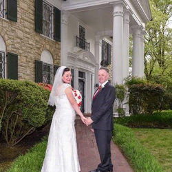 Jerry and Beverley Waldock from the United Kingdom were married at Graceland's Chapel in the Woods on April 25, 2018.