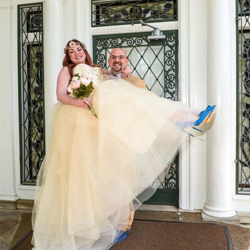 Daniel and Brandy Hearn from Winston-Salem, North Carolina were married at Graceland's Chapel in the Woods on May 8, 2018.