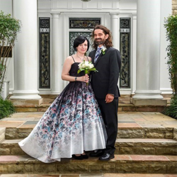 John and Elektra Landin from Chicago, Illinois, were married at Graceland's Chapel in the Woods on May 31, 2018.