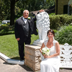 Kenneth and Rosemary Thompson from Michigan were married at Graceland's Chapel in the Woods on June 7, 2018.