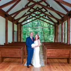 Martyn and Lisa-Marie Bletso of the United Kingdom were married at Graceland's Chapel in the Woods on September 14, 2018.