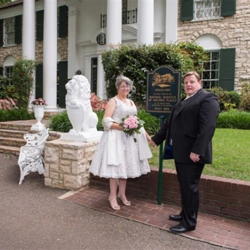Carol Stafford-Waters and Carl Catterall from the UK were married in the Graceland chapel on May 11, 2015.