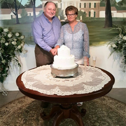 Terry & Ginger Nybakke from Danvers, Illinois, married at the Chapel in the Woods on August 13, 2015.