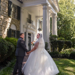 Stacie & Randall Hardin from the UK married at the Chapel in the Woods on August 24, 2015.