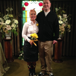 Yolanda and Graham Hyde from London, England celebrated their anniversary by renewing their vows at Graceland's Chapel in the Woods on September 25, 2015.