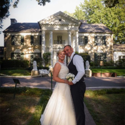 Susan and Steve Bartram of Wacton, Norfolk, UK, renewed their vows at Graceland