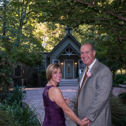 Lisa and Eddie Myers from Carlsbad, California, renewed their vows on their 19th anniversary on October 10, 2015.