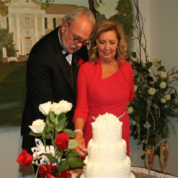 Brenda Stegall and Rick Martin of Bruce, Mississippi, were married at Graceland