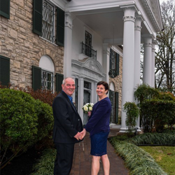 John and Catherine Devlin from Ayrshire, Scotland celebrated their 30th anniversary by renewing their vows at Graceland