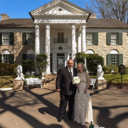 Tracey and Adam Nofziger from Bend, Oregon renewed their vows, celebrating their 5th anniversary, at Graceland's Chapel in the Woods on March 26, 2016