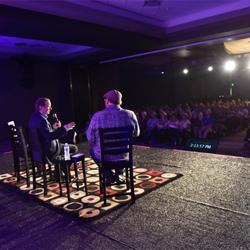 Graceland CEO Jack Soden talks with DJ Argo during Sirius XM Elvis Radio