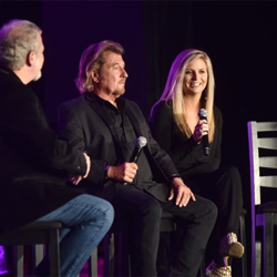 Sam and Halley Phillips, son and granddaughter of Sam Phillips, talked about how Sam worked with Elvis at Conversations on Elvis.