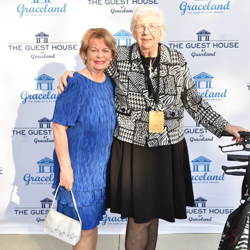 Guests, including Cynthia Pepper and Marian Cocke, walked the blue carpet at The Guest House at Graceland ribbon cutting event.