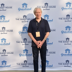 Glen D. Hardin, who performed with Elvis, walked the blue carpet at The Guest House at Graceland.
