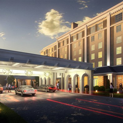 Valet parking for the future Guest House at Graceland - opening 2015.