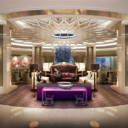 Lobby of the future Guest House at Graceland - opening 2015.