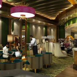 Founders lobby for the future Guest House at Graceland - opening 2015.