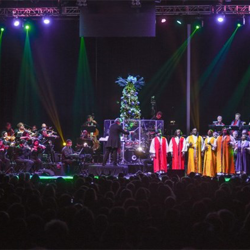 Billy Rivers & the Angelic Voices of Faith performed at the Christmas with Elvis concert.