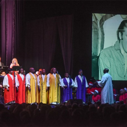 Billy Rivers & the Angelic Voices of Faith performed at the Christmas with Elvis show.
