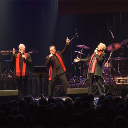 Terry Blackwood & The Imperials pulled double duty - they performed at the gospel concert and then sang back-up at the Elvis Live in Concert show.