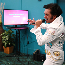 Elvis fans sang their favorite tunes at Elvis Karaoke.