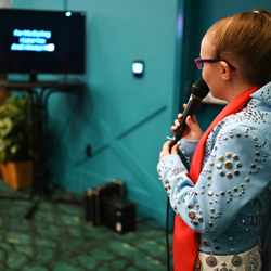 Fans of all ages belted out the Elvis hits at karaoke!