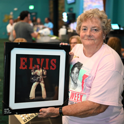 Elvis fans won prizes at Elvis Trivia.