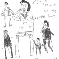 Matthew from Virginia sent us his drawing of his hero, Elvis Presley.
