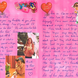 This letter is from Kristina, an Elvis fan from Norway.