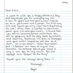 This letter is from Kayla in Pennsylvania.