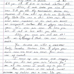 Linda, a fan from Michigan, wrote this letter.