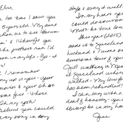 June, a fan from Texas, wrote this letter.