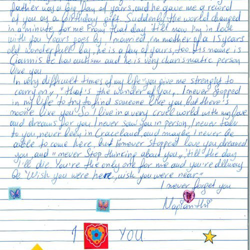 This letter is from Marianrhi in Greece.