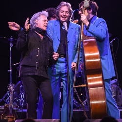 Marty Stuart & His Fabulous Superlatives performed a mix of gospel, bluegrass and country tunes.