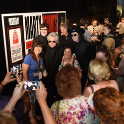 Marty Stuart & His Fabulous Superlatives met with fans at the exhibit opening.