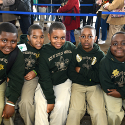 Scouts visited many different groups at Graceland, such as the Casey Jones Village and the Orpheum Theater.